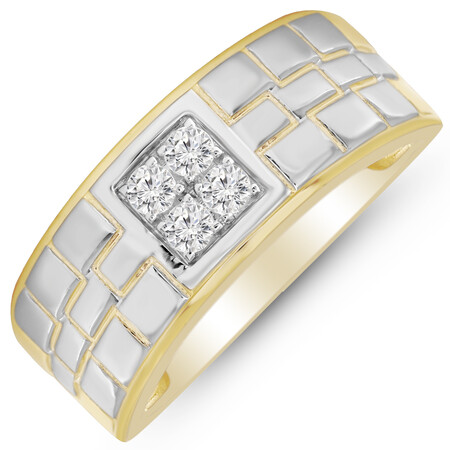 Four Stone Ring with 0.25 Carat TW of Diamonds in 10kt Yellow Gold