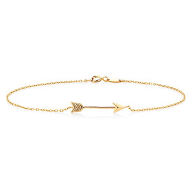 Arrow Bracelet in 10kt Yellow Gold