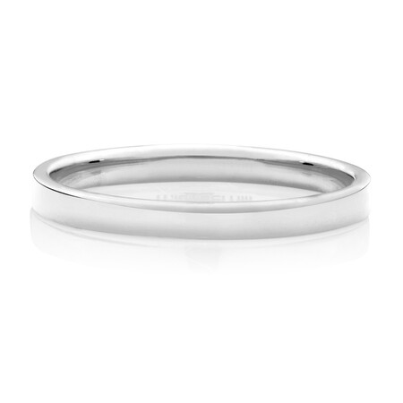 Lite Half Round Wedding Band in 10kt White Gold
