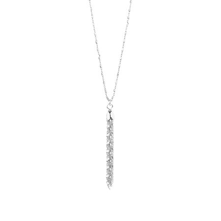 Fancy Drop Necklace in Sterling Silver