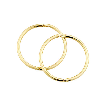 16mm Sleepers in 10kt Yellow Gold