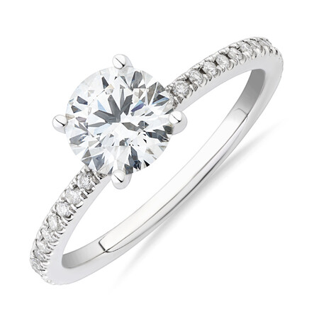 Laboratory-Created 1.14 Carat TW of Diamond Ring In 14kt White Gold