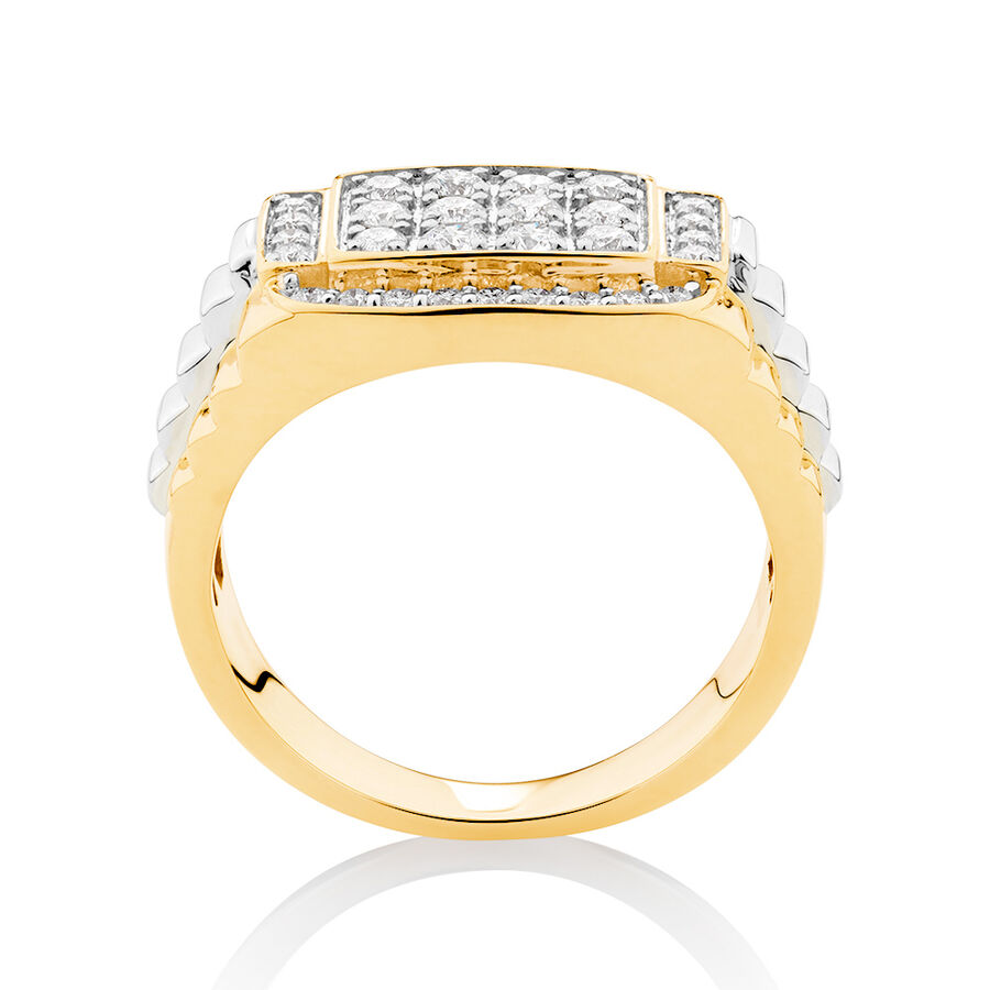 Ring with 1 Carat TW of Diamonds in 10kt Yellow & White Gold