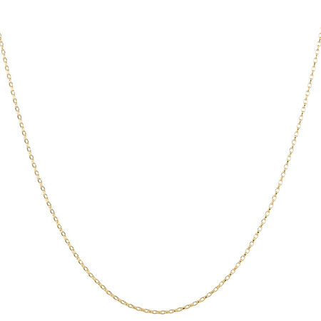 Solid Rolo Chain in 10kt Yellow Gold