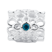 Aqua Cubic Zirconia & Sterling Silver Wild Hearts Mini Sleeve