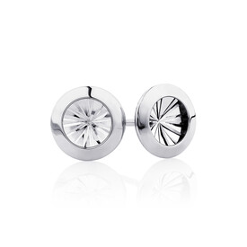 Stud Earrings in 10kt White Gold