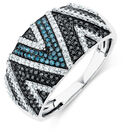 Online Exclusive - Ring with 0.60 Carat TW of Enhanced Blue & Black Diamonds in 10kt White Gold