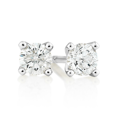 Solitaire Earrings with 0.25 Carat TW of Diamonds in 10kt White Gold