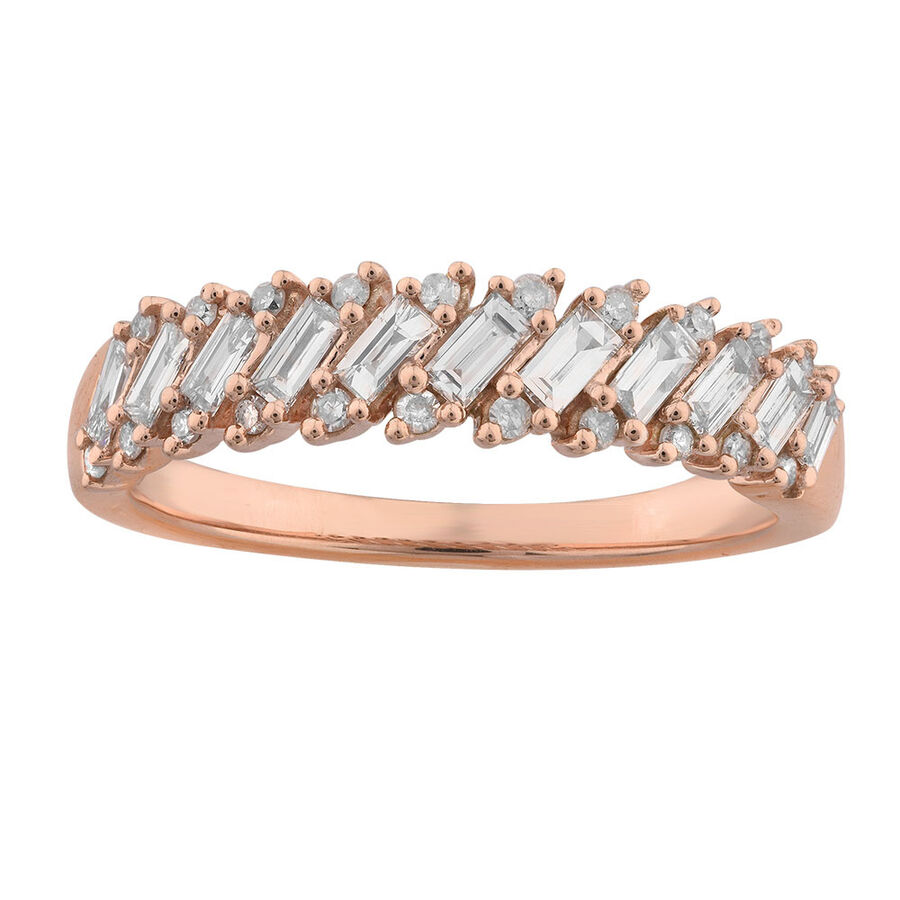 Ring with 1/2 Carat TW of Diamonds in 10kt Rose Gold