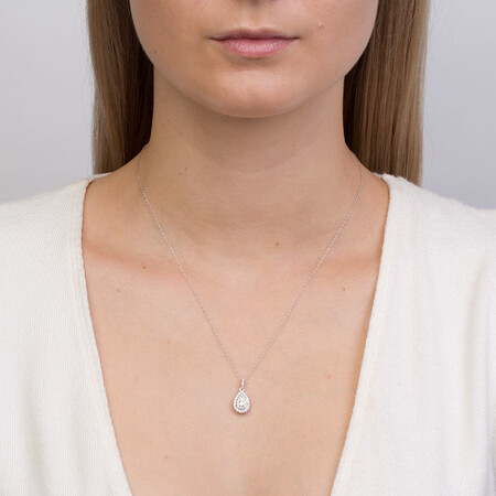 Sir Michael Hill Designer Fashion Pendant with 0.33 Carat TW of Diamonds in 10kt White Gold