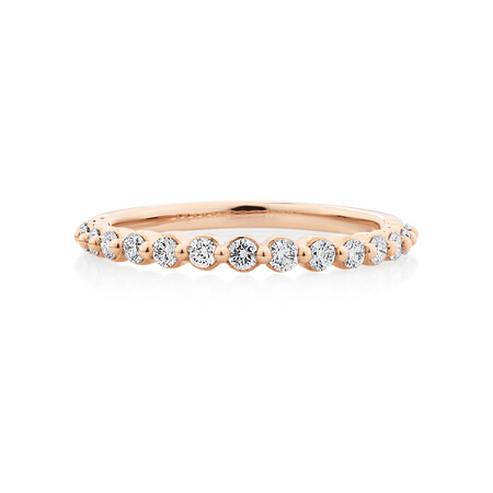 Evermore Wedding Band with 0.34 Carat TW of Diamonds in 10kt Rose Gold