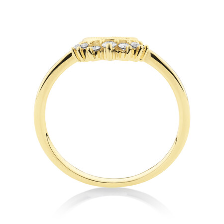 Evermore Wedding Band with 0.10 Carat TW of Diamonds in 10kt Yellow Gold