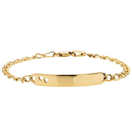 Baby Identity Bracelet in 10kt Yellow Gold