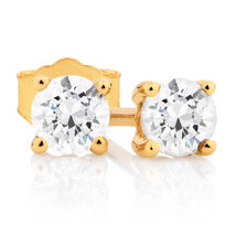 Classic Stud Earrings with 0.30 Carat TW of Diamonds in 10kt Yellow Gold