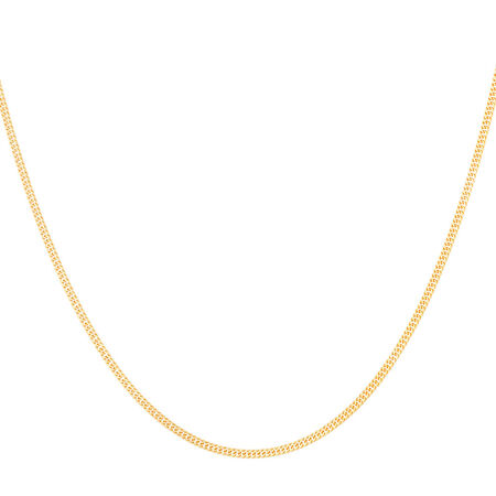 """45cm (18"""") Double Curb Chain in 10kt Yellow Gold"""