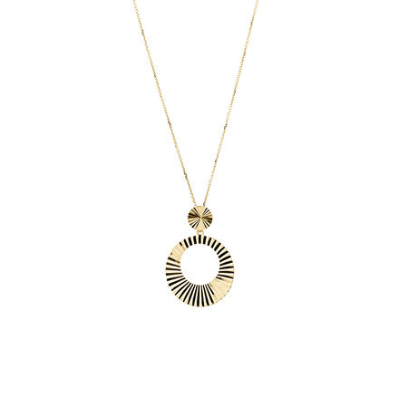 Circle Pendant in 10kt Yellow Gold