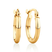 14mm Hoop Earrings in 10kt Yellow Gold