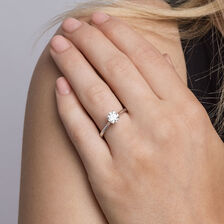 Southern Star Solitaire Engagement Ring with a 1 Carat TW Diamond in 14kt White Gold