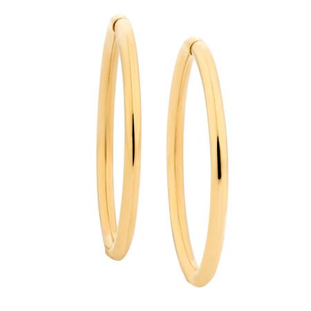 18mm Sleeper Earrings in 14kt Yellow Gold