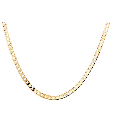 """55cm (22"""") Curb Chain in 10kt Yellow Gold"""