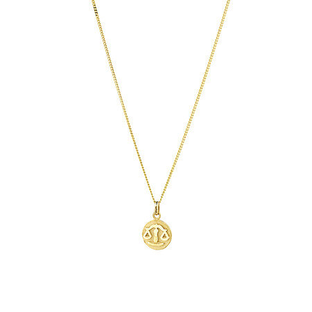 Libra Zodiac Pendant in 10kt Yellow Gold