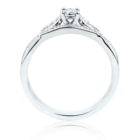 Bridal Set With 0.22 Carat TW of Diamonds In 10kt White Gold