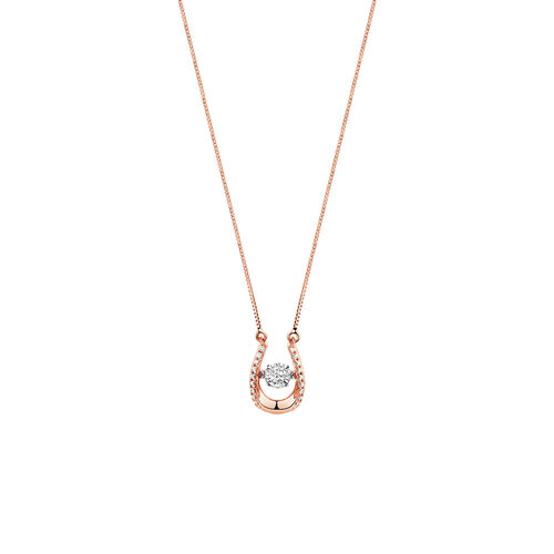 Everlight Pendant with 0.13 Carat TW of Diamonds in 10kt Rose Gold