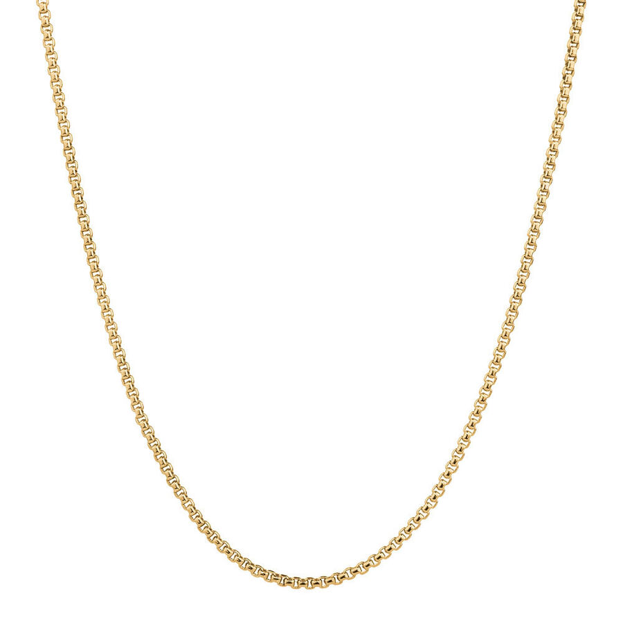 """45cm (18"""") Hollow Round Box Chain in 14kt Yellow Gold"""