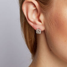 Stud Earrings with 1/2 Carat TW of Diamonds in 10kt White Gold