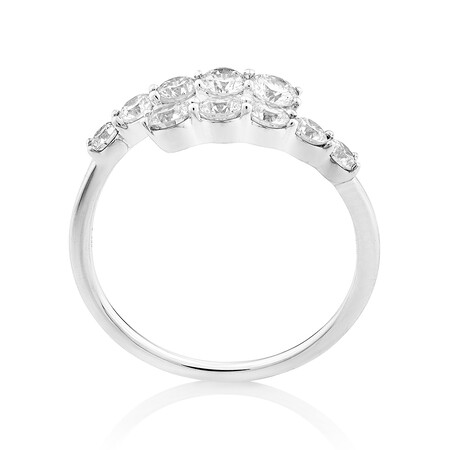 Laboratory-Created 1 Carat TW Diamond Ring in 10ct White Gold