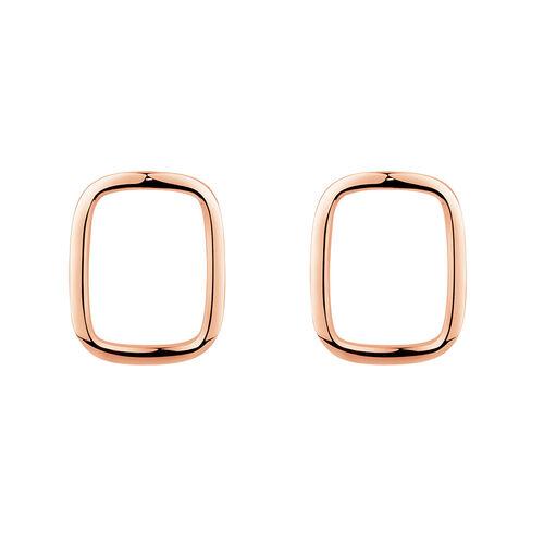 Open Rectangle Stud Earrings in 10kt Rose Gold