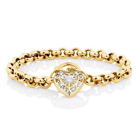 "19cm (7.5"") Rolo Bracelet in 10kt Yellow & White Gold"