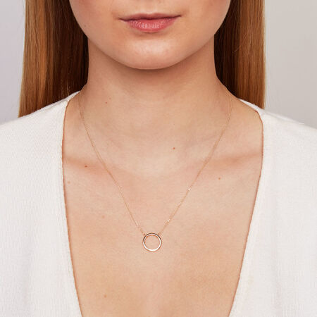 Circle Necklace in 10kt Yellow Gold