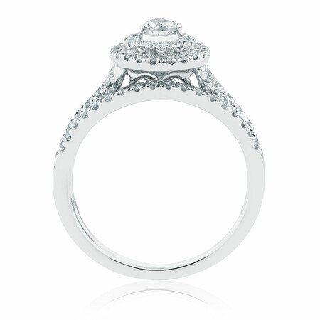 Bridal Set with 1 Carat TW of Diamonds in 14kt White Gold