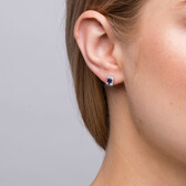 Stud Earrings with Tanzanite & 0.15 Carat TW of Diamonds in 10kt White Gold