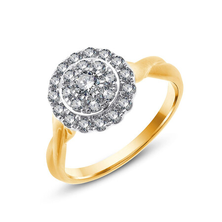 Twist Ring with 0.63 Carat TW of Diamonds in 10kt Yellow & White Gold