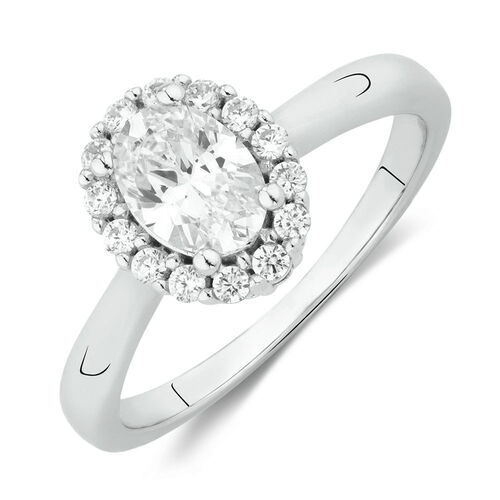 Ring with White Cubic Zirconia in Sterling Silver