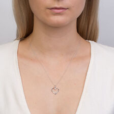 Online Exclusive - Heart Pendant with Diamonds in 10kt White Gold