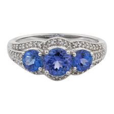 Online Exclusive - Ring with 0.23 Carat TW of Diamonds & Tanzanite in 10kt White Gold