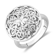 Filigree Flower Ring in Sterling Silver