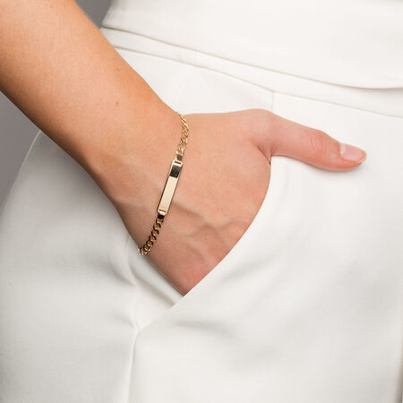"19cm (7.5"") Identity Bracelet in 10kt Yellow Gold"