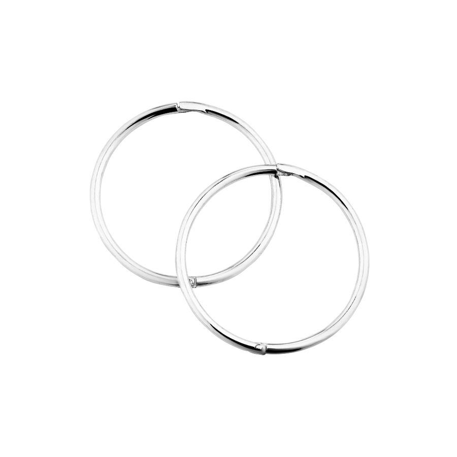 18mm Sleeper Earrings in Sterling Silver
