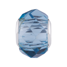 Blue Crystal Faceted Charm
