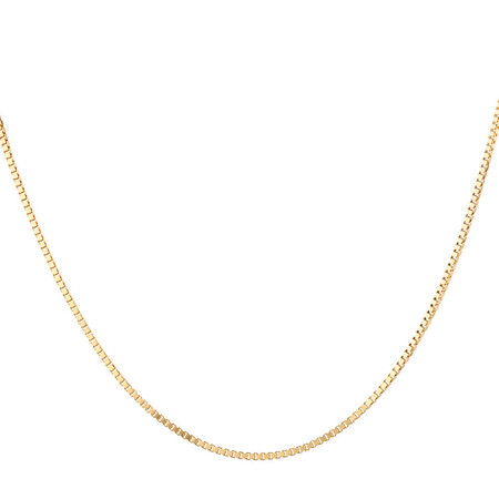 """55cm (22"""") Box Chain in 10kt Yellow Gold"""