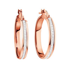 Glitter Hoop Earrings in 10kt Rose Gold