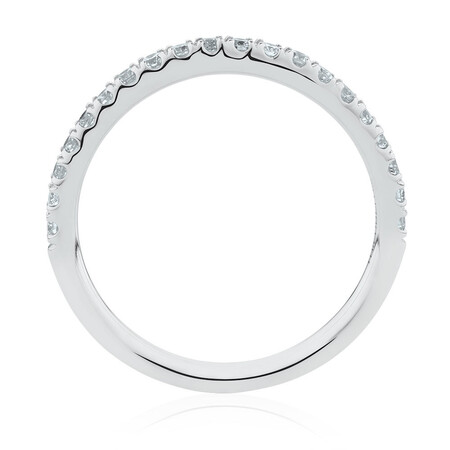 Wedding Band with 0.34 Carat TW of Diamonds in 14kt White Gold