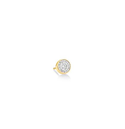 Men'S Stud Earring with 0.30 Carat TW of Diamonds In 10kt Yellow Gold