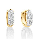 Mini Hoops with 0.25 Carat TW of Diamonds in 10kt Yellow Gold