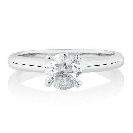Northern Radiance Solitaire Engagement Ring with a 1 Carat TW Certified Canadian Diamond in 14kt White Gold