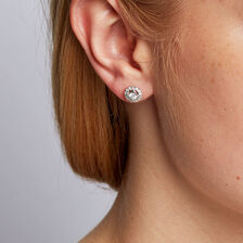Stud Earrings with a 1/2 Carat TW of Diamonds in 10kt White Gold